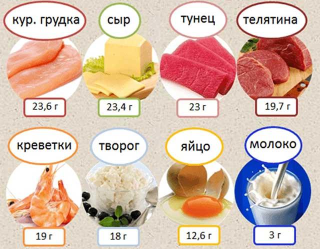 Белок в каких продуктах содержится