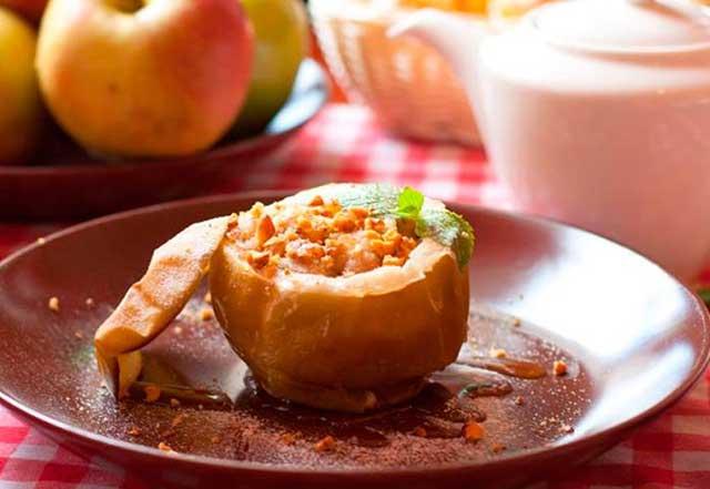 запеченные яблоки хорошо снижают аппетит