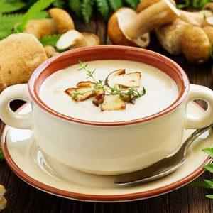 суп из белых грибов пюре из свежих грибов