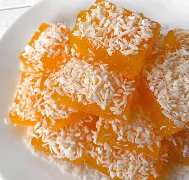Вкусные мармеладки из тыквы для правильного питания