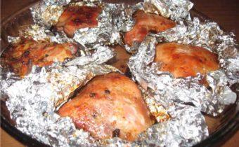 ПП-рецепты куриных бедер, запеченных в духовке в фольге