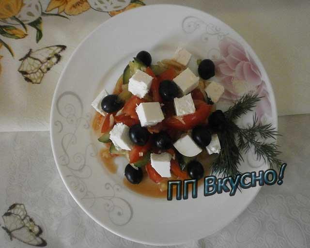 Как сделать салат по-гречески с фетой