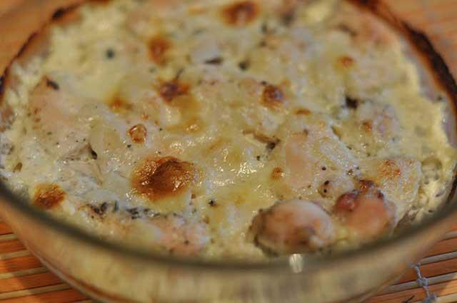 курица с сливках с грибами в духовке