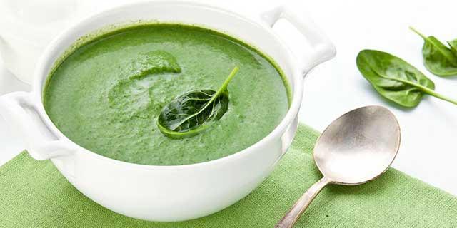 ПП-рецепты пюрированных супов на основе шпината