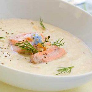 как приготовить суп из красной рыбы со сливками