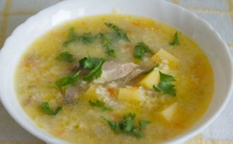 Рецепты пшенных супов с куриным мясом