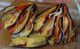 баклажаны рецепты в духовке с сыром и грибами