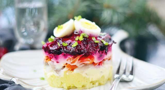 диетический салат шуба как сделать фото рецепт