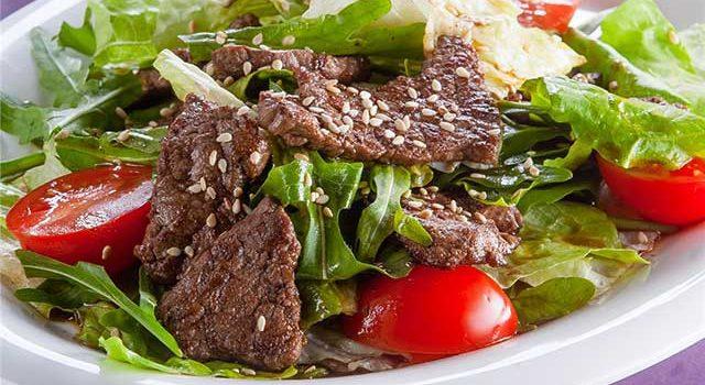 салат с говядиной пп