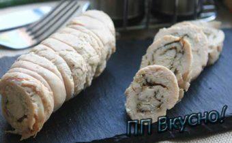 Вкусные и диетические рулетики из куриного филе