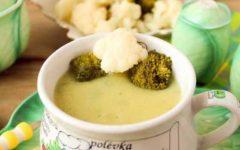 Как из цветной капусты и брокколи приготовить вкусный пп-суп