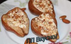 Как вкусно запечь в духовке груши с начинкой из рикотты