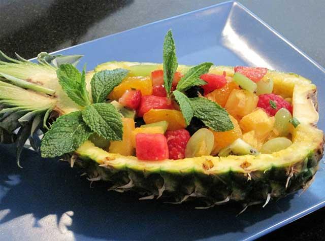 Шикарный диетический фруктовый салат.