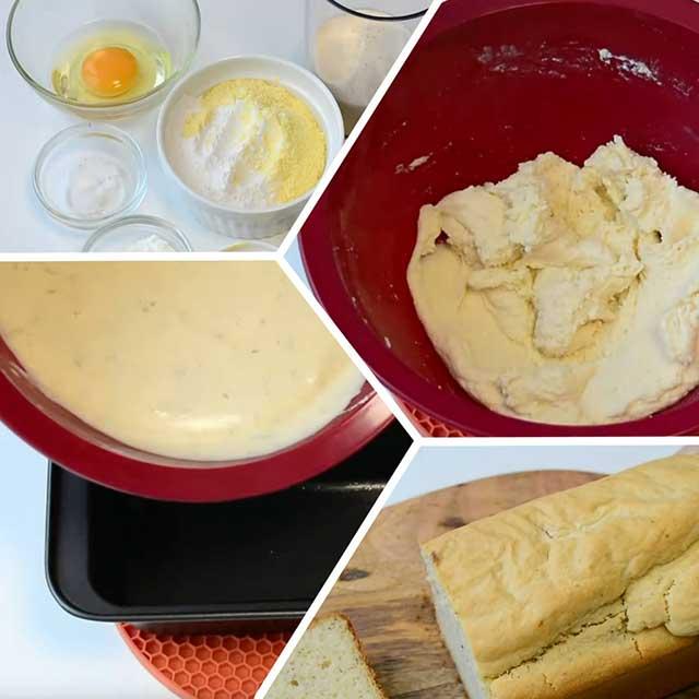 Процесс приготовления рисового хлеба